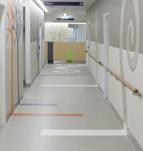 Sunshine Hospital, Gerflor, Silver Thomas Hanley Architects.